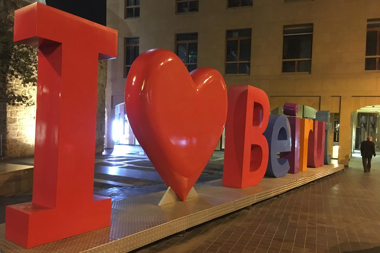 Buchstaben: I love Beirut
