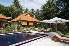 Pool area at Alam Mimpi, Bali