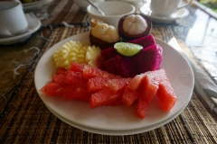 Fruit plate for breakfast at Alam Mimpi, Bali