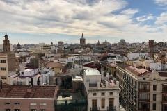 Blick über die Altstadt von den Torres de Serranosa