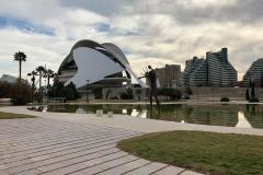 Palau de les Arts Reina Sofía (Oper Valencia) im Jardí del Túria